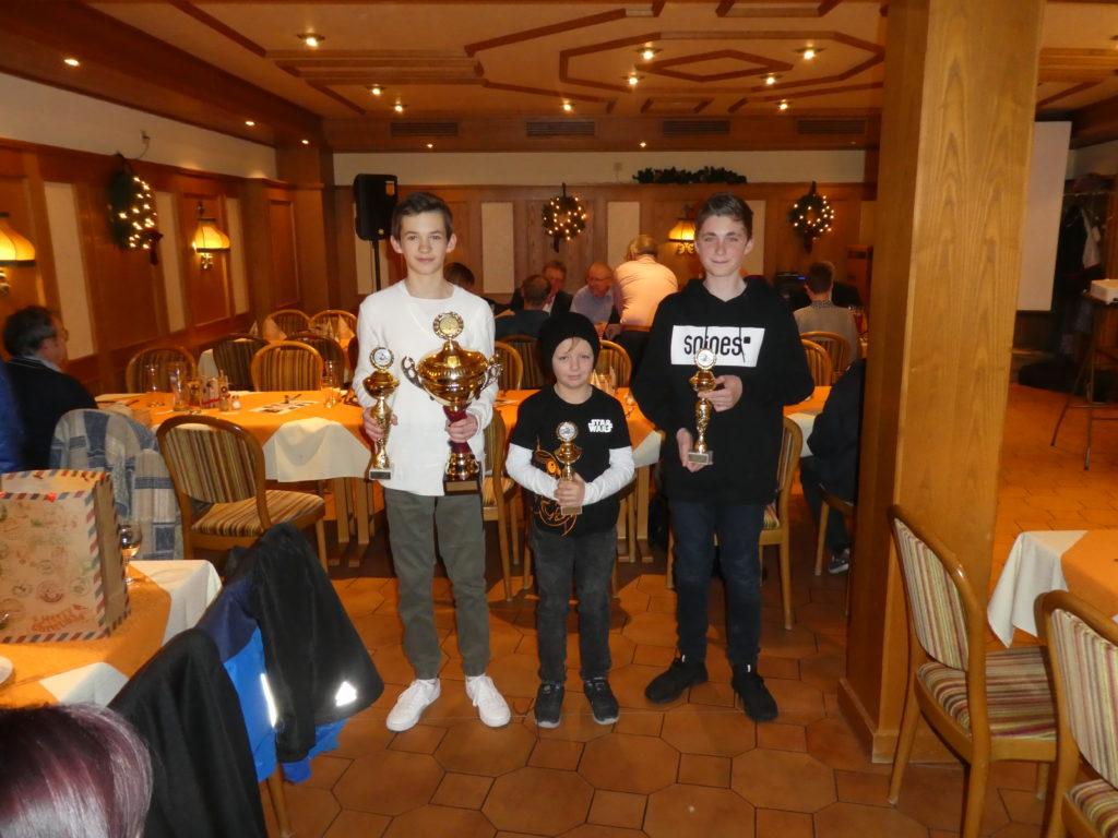 Vereinsmeisterschaft Jugendkart 2019: v.l.n.r.: Lucca Brechtel, Eric Müller, Luca Schmitt
